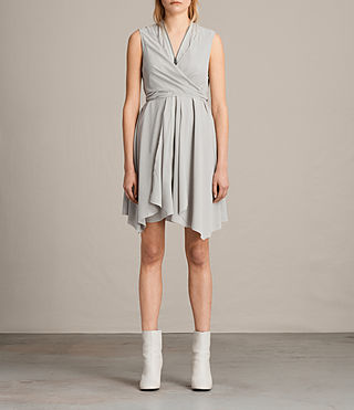 Womens Jayda Silk Dress (STORM GREY) - Image 1