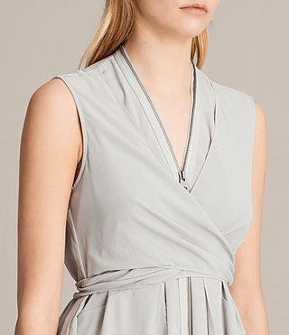 Womens Jayda Silk Dress (STORM GREY) - Image 2