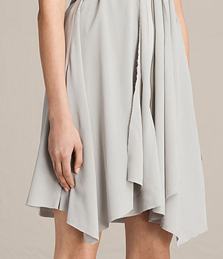 Womens Jayda Silk Dress (STORM GREY) - Image 4