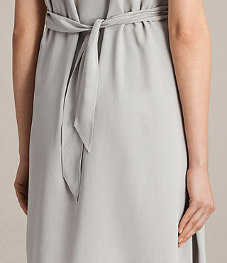 Womens Jayda Silk Dress (STORM GREY) - Image 5
