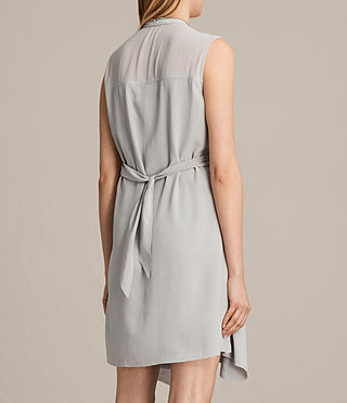 Womens Jayda Silk Dress (STORM GREY) - Image 6