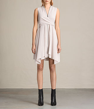 Donne Jayda Silk Dress (CHAMPAGNE PINK)