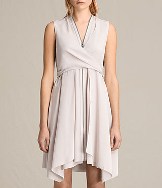 Womens Jayda Silk Dress (CHAMPAGNE PINK) - product_image_alt_text_3
