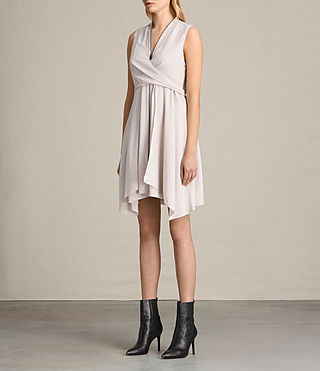 Womens Jayda Silk Dress (CHAMPAGNE PINK) - product_image_alt_text_5