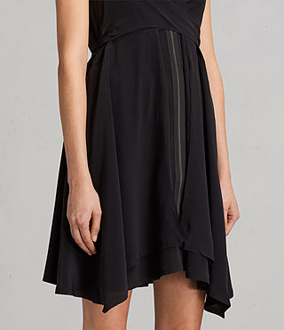 Womens Jayda Silk Dress (Black) - Image 2