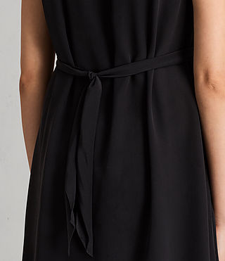 Womens Jayda Silk Dress (Black) - product_image_alt_text_7