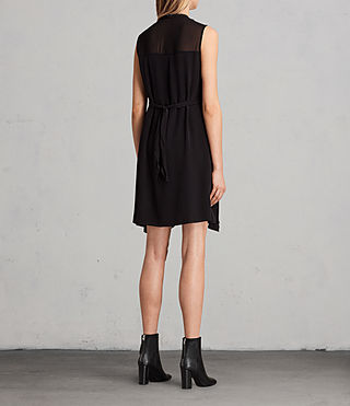 Womens Jayda Silk Dress (Black) - Image 9