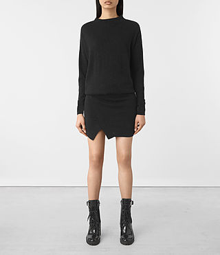 Womens Casa Dress (Cinder Black Marl) - product_image_alt_text_1