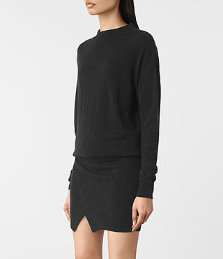 Womens Casa Dress (Cinder Black Marl) - product_image_alt_text_3