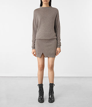 Femmes Casa Dress (Fawn Brown Marl)