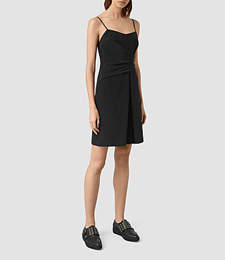 Womens Rywen Short Dress (Black) - product_image_alt_text_3