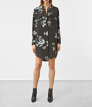 Damen Helle Flora Dress (Green)