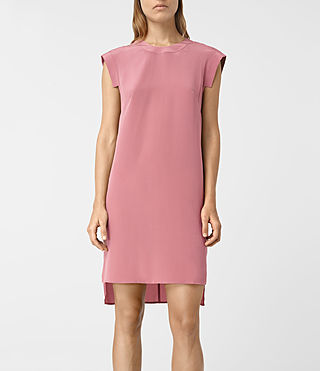 Womens Tonya Silk Dress (MAUVE PINK) - product_image_alt_text_4