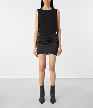Damen Iri Dress (Black)