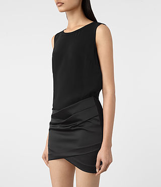 Mujer Iri Dress (Black) - product_image_alt_text_2