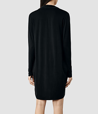 Womens Amei Long Sleeve Dress (Black) - product_image_alt_text_3