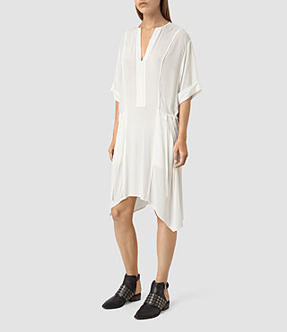Womens Flo Dress (Chalk White)