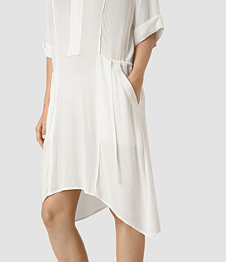 Womens Flo Dress (Chalk White) - product_image_alt_text_2