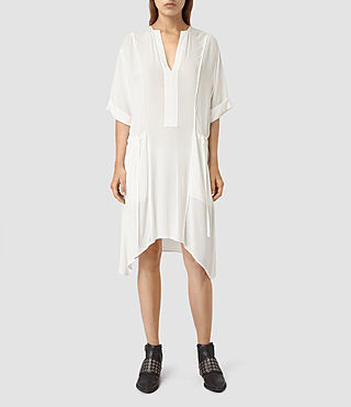 Womens Flo Dress (Chalk White) - product_image_alt_text_3