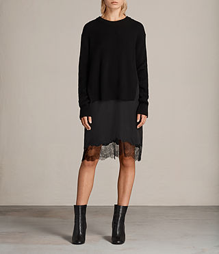 Womens Eloise Long Sleeve Dress (Black) - product_image_alt_text_1