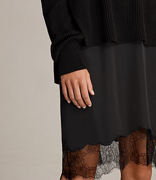 Womens Eloise Long Sleeve Dress (Black) - product_image_alt_text_2