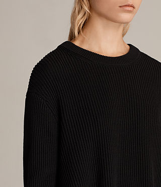 Womens Eloise Long Sleeve Dress (Black) - product_image_alt_text_4