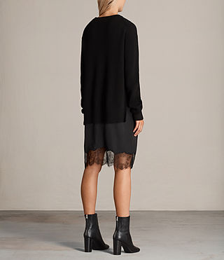 Womens Eloise Long Sleeve Dress (Black) - product_image_alt_text_8