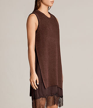 Womens Eloise Sleeveless Dress (Port Red) - product_image_alt_text_5
