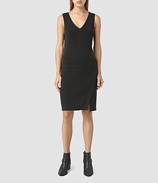 Mujer Rassa Dress (COAL BLACK) -