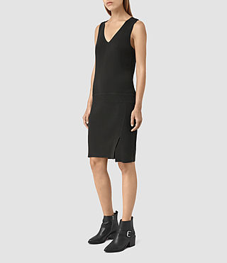 Mujer Rassa Dress (COAL BLACK) - product_image_alt_text_3