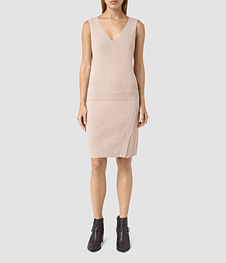 Womens Rassa Knitted Dress (SandstonePinkMarl)