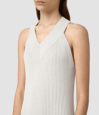 Womens Orro Dress (PORCELAIN WHITE) - product_image_alt_text_2