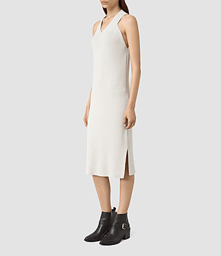 Womens Orro Dress (PORCELAIN WHITE) - product_image_alt_text_3