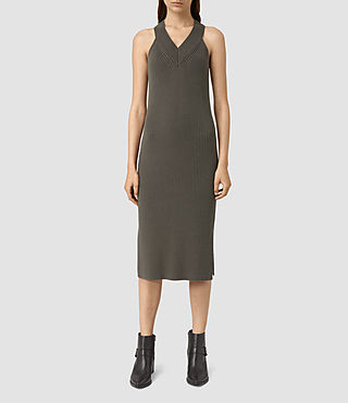 Womens Orro Dress (Olive Green)
