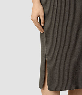 Mujer Orro Dress (Olive Green) - product_image_alt_text_2