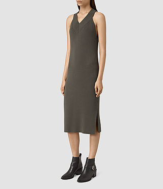 Mujer Orro Dress (Olive Green) - product_image_alt_text_3