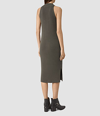 Mujer Orro Dress (Olive Green) - product_image_alt_text_4