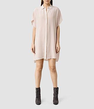 Women's Thea Shirt Dress (ASH PINK)