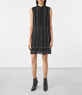 Mujer Hezzy Embellished Dress (Black) - product_image_alt_text_1