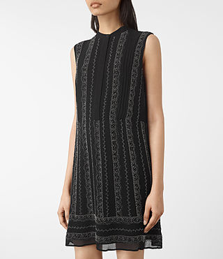 Mujer Hezzy Embellished Dress (Black) - product_image_alt_text_2