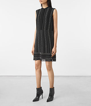 Mujer Hezzy Embellished Dress (Black) - product_image_alt_text_3