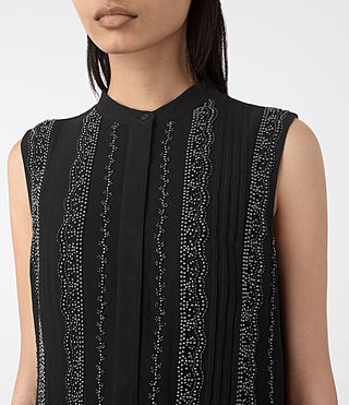 Mujer Hezzy Embellished Dress (Black) - product_image_alt_text_4