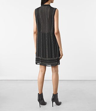 Mujer Hezzy Embellished Dress (Black) - product_image_alt_text_5