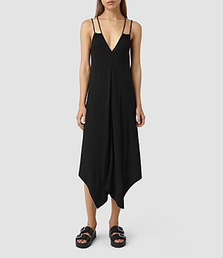 Womens Blaze Strap Dress (Black)