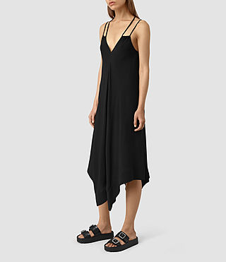Damen Blaze Strap Dress (Black) - product_image_alt_text_3