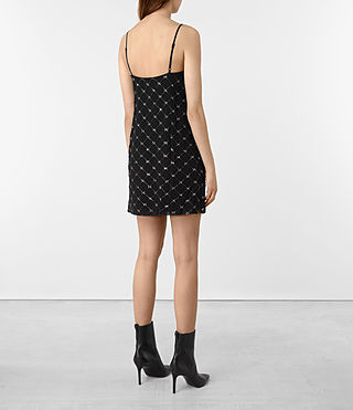Womens Wire Embellished Slip Dress (Black) - product_image_alt_text_5