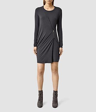 Women's Albi Sleeve Dress (Cinder Black Marl)