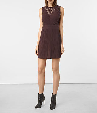 Womens Ula Dress (BURGUNDY RED)