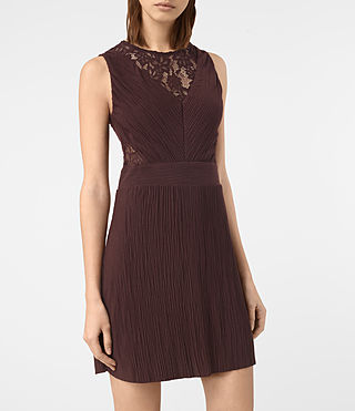Womens Ula Dress (BURGUNDY RED) - product_image_alt_text_2