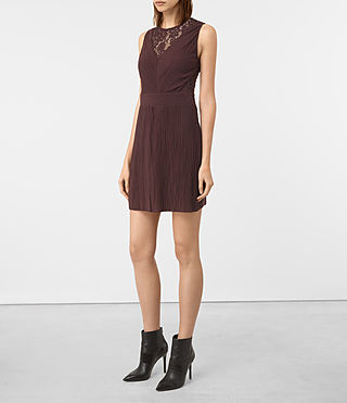 Womens Ula Dress (BURGUNDY RED) - product_image_alt_text_3